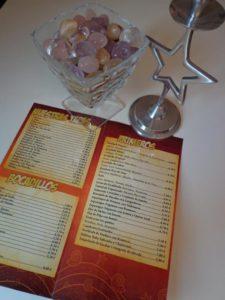 Imprimir cartas de menu restaurante